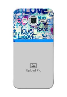 Samsung Galaxy J3 Colourful Love Patterns Mobile Case Design