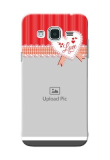 Samsung Galaxy J3 Red Pattern Mobile Cover Design