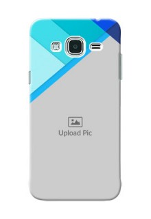 Samsung Galaxy J3 Blue Abstract Mobile Cover Design