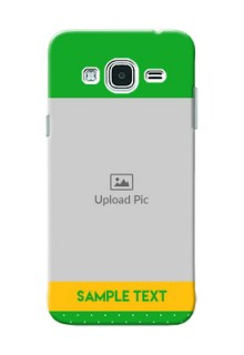 Samsung Galaxy J3 Green And Yellow Pattern Mobile Cover Design