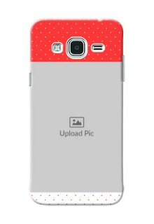 Samsung Galaxy J3 Red Pattern Mobile Case Design