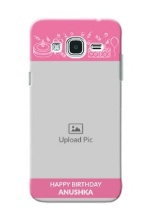 Samsung Galaxy J3 plain birthday line arts Design