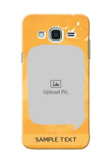 Samsung Galaxy J3 watercolour design with bird icons and sample text Design Design
