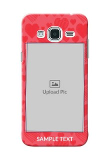 Samsung Galaxy J3 multiple hearts symbols Design