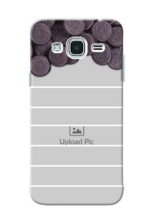 Samsung Galaxy J3 oreo biscuit pattern with white stripes Design