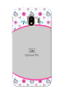 Samsung Galaxy J4 (2018) Colourful Flowers Mobile Cover Design