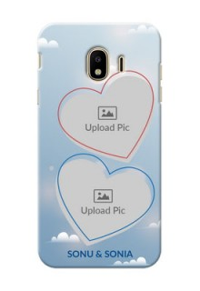 Samsung Galaxy J4 (2018) couple heart frames with sky backdrop Design
