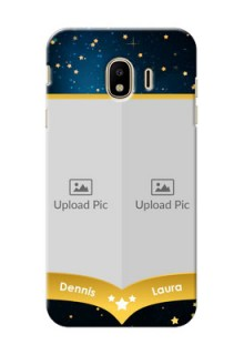 Samsung Galaxy J4 (2018) 2 image holder with galaxy backdrop and stars  Design