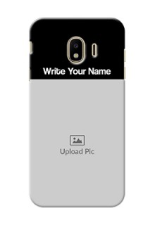 Galaxy J4 (2018) Photo with Name on Phone Case