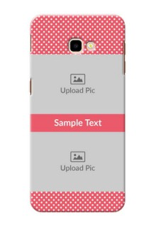 Samsung Galaxy J4 Plus Custom Mobile Case with White Dotted Design