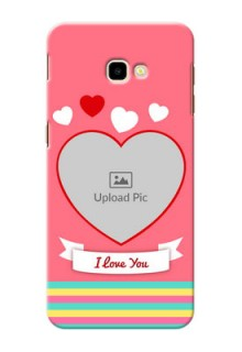 Samsung Galaxy J4 Plus Personalised mobile covers: Love Doodle Design