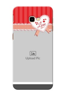 Samsung Galaxy J4 Plus phone cases online: Red Love Pattern Design