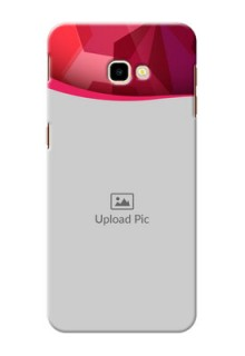 Samsung Galaxy J4 Plus custom mobile back covers: Red Abstract Design