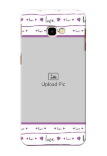 Samsung Galaxy J4 Plus Mobile Back Covers: Couples Heart Design