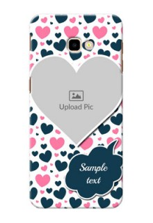 Samsung Galaxy J4 Plus Mobile Covers Online: Pink & Blue Heart Design