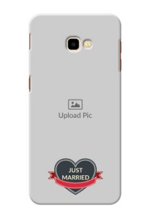 Samsung Galaxy J4 Plus mobile back covers online: Just Married Couple Design
