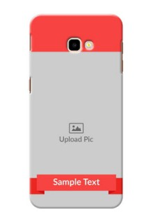 Samsung Galaxy J4 Plus Personalised mobile covers: Simple Red Color Design