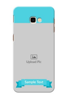 Samsung Galaxy J4 Plus Personalized Mobile Covers: Simple Blue Color Design