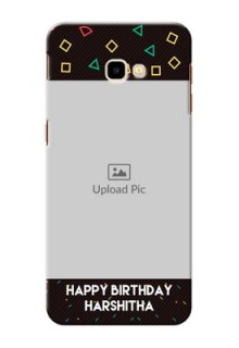 Samsung Galaxy J4 Plus custom mobile cases with confetti birthday design
