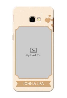 Samsung Galaxy J4 Plus mobile phone cases with confetti love design