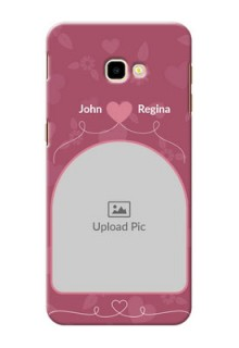 Samsung Galaxy J4 Plus mobile phone covers: Love Floral Design