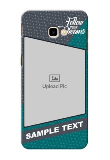 Samsung Galaxy J4 Plus Back Covers: Background Pattern Design with Quote