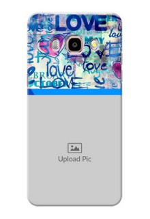 Samsung Galaxy J5 (2016) Colourful Love Patterns Mobile Case Design