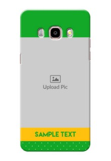 Samsung Galaxy J5 (2016) Green And Yellow Pattern Mobile Cover Design