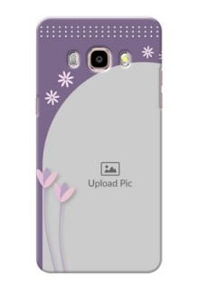 Samsung Galaxy J5 (2016) lavender background with flower sprinkles Design Design