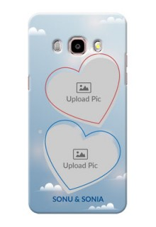 Samsung Galaxy J5 (2016) couple heart frames with sky backdrop Design