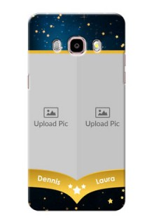 Samsung Galaxy J5 (2016) 2 image holder with galaxy backdrop and stars  Design