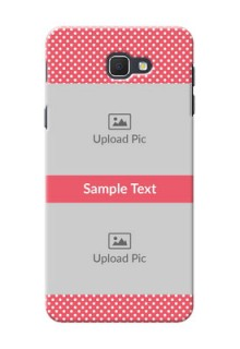 Samsung Galaxy J5 Prime White Dots Mobile Case  Design
