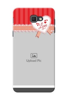 Samsung Galaxy J5 Prime Red Pattern Mobile Cover Design
