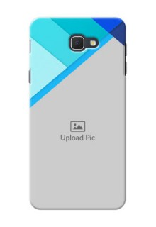 Samsung Galaxy J5 Prime Blue Abstract Mobile Cover Design