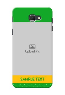 Samsung Galaxy J5 Prime Green And Yellow Pattern Mobile Cover Design