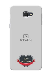 Samsung Galaxy J5 Prime Just Married Mobile Cover Design