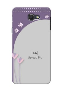 Samsung Galaxy J5 Prime lavender background with flower sprinkles Design Design