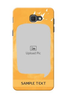 Samsung Galaxy J5 Prime watercolour design with bird icons and sample text Design Design