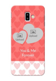 Samsung Galaxy J6 Plus personalized phone covers: Couple Pic Upload Design