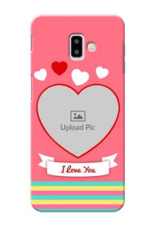 Samsung Galaxy J6 Plus Personalised mobile covers: Love Doodle Design