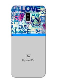 Samsung Galaxy J6 Plus Mobile Covers Online: Colorful Love Design