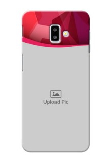 Samsung Galaxy J6 Plus custom mobile back covers: Red Abstract Design