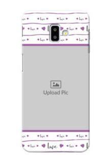 Samsung Galaxy J6 Plus Mobile Back Covers: Couples Heart Design