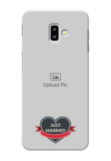 Samsung Galaxy J6 Plus mobile back covers online: Just Married Couple Design