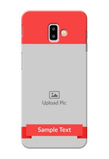 Samsung Galaxy J6 Plus Personalised mobile covers: Simple Red Color Design