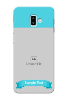 Samsung Galaxy J6 Plus Personalized Mobile Covers: Simple Blue Color Design