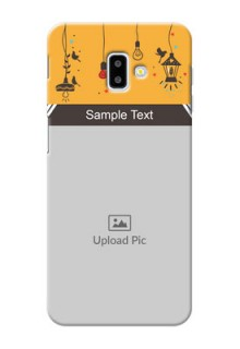 Samsung Galaxy J6 Plus custom back covers with Family Picture and Icons