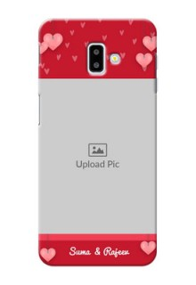 Samsung Galaxy J6 Plus Mobile Back Covers: Valentines Day Design