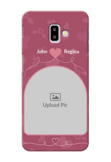 Samsung Galaxy J6 Plus mobile phone covers: Love Floral Design