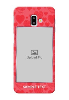 Samsung Galaxy J6 Plus Mobile Back Covers: with Red Heart Symbols Design